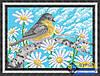 Схема для вышивки бисером - Синичка в ромашках, Арт. ЖБп4-031