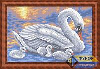 Схема для вышивки бисером - Лебеди на пруду, Арт. ЖБп4-25