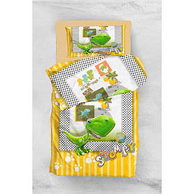 Постельное бельё Eponj Home 3D Micro Satin - Stompy Sari-Yesil подростковое