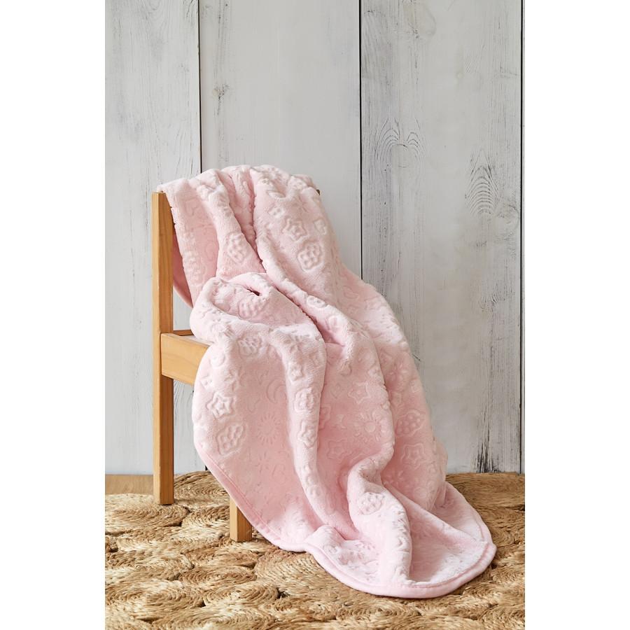 Детский плед в кроватку Karaca Home - Candy Pudra 2020-2 100*120