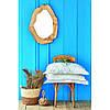 Постельное белье Karaca Home ранфорс - Anemos mavi 2020-2 голубой евро, фото 5