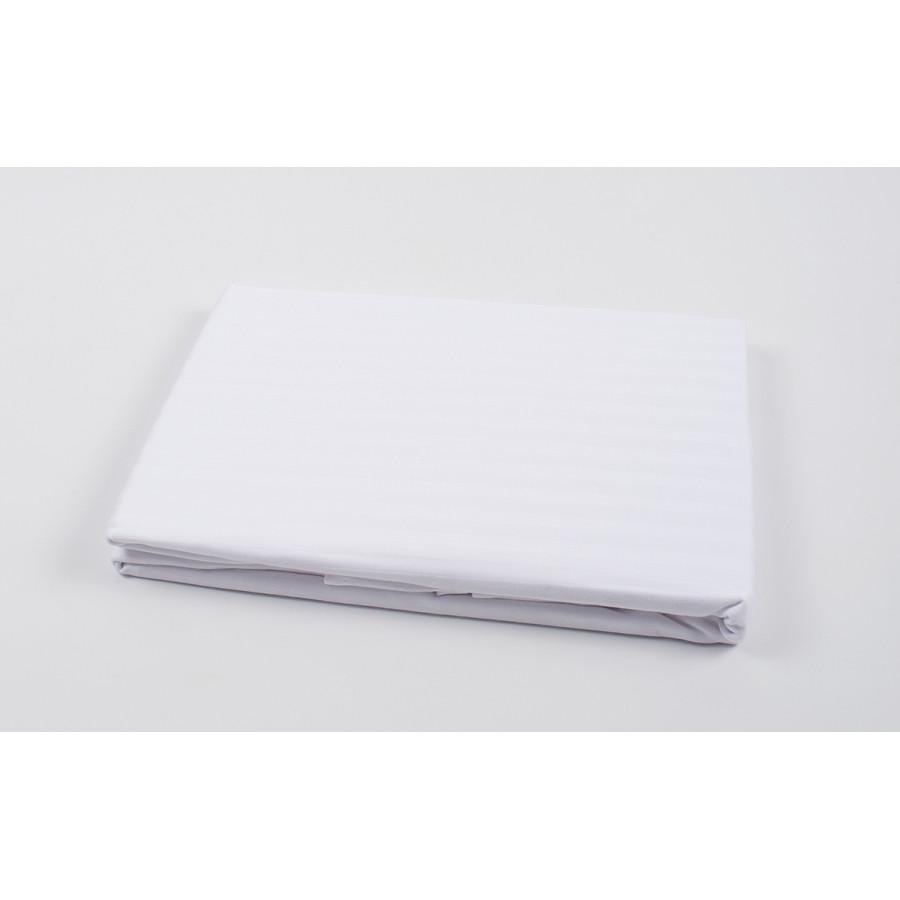 Простынь Oliva Home - Сатин страйп 1*1 белый 180*260