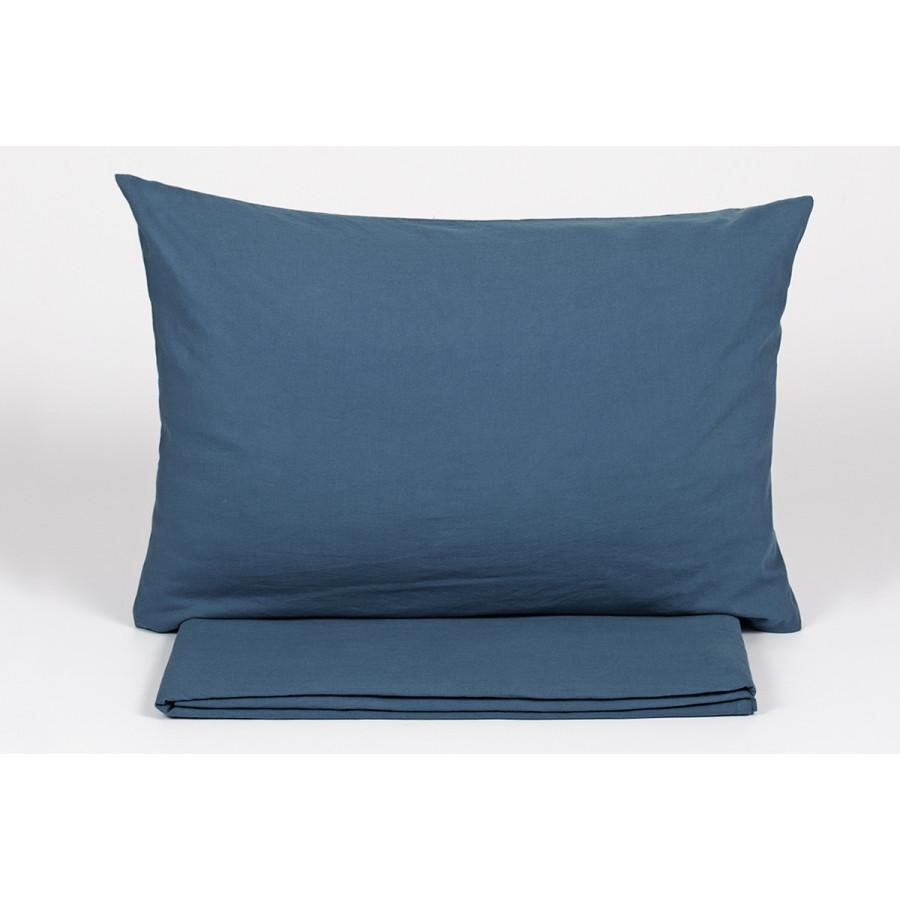 Простынь с наволочками Buldans - Burumcuk indigo синий 270*310