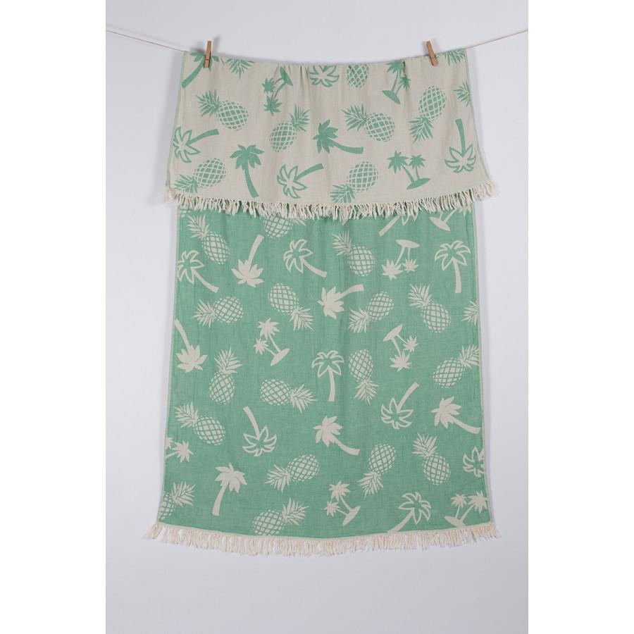 Полотенце Barine Pestemal - Palmsprings 90*160 Green зеленый