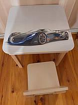 Стол-парта с фотопечатью без стульчика SP-10.43 Венге светлый/Серый (ТМ Вальтер), фото 3