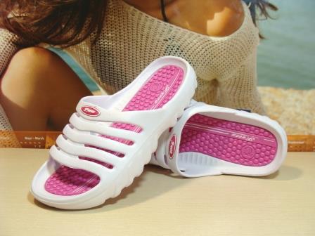 Жіночі шльопанці Super Cool біло-рожеві 37 р.