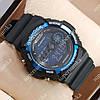Стильные наручные спортивные часы Casio GA-200A Black/Blue 6059