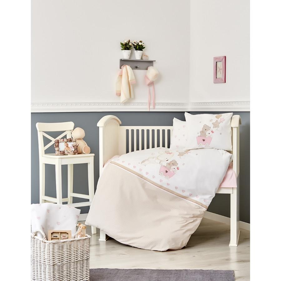 Постільна білизна для немовлят Karaca Home - Pretty 2018-1 ранфорс