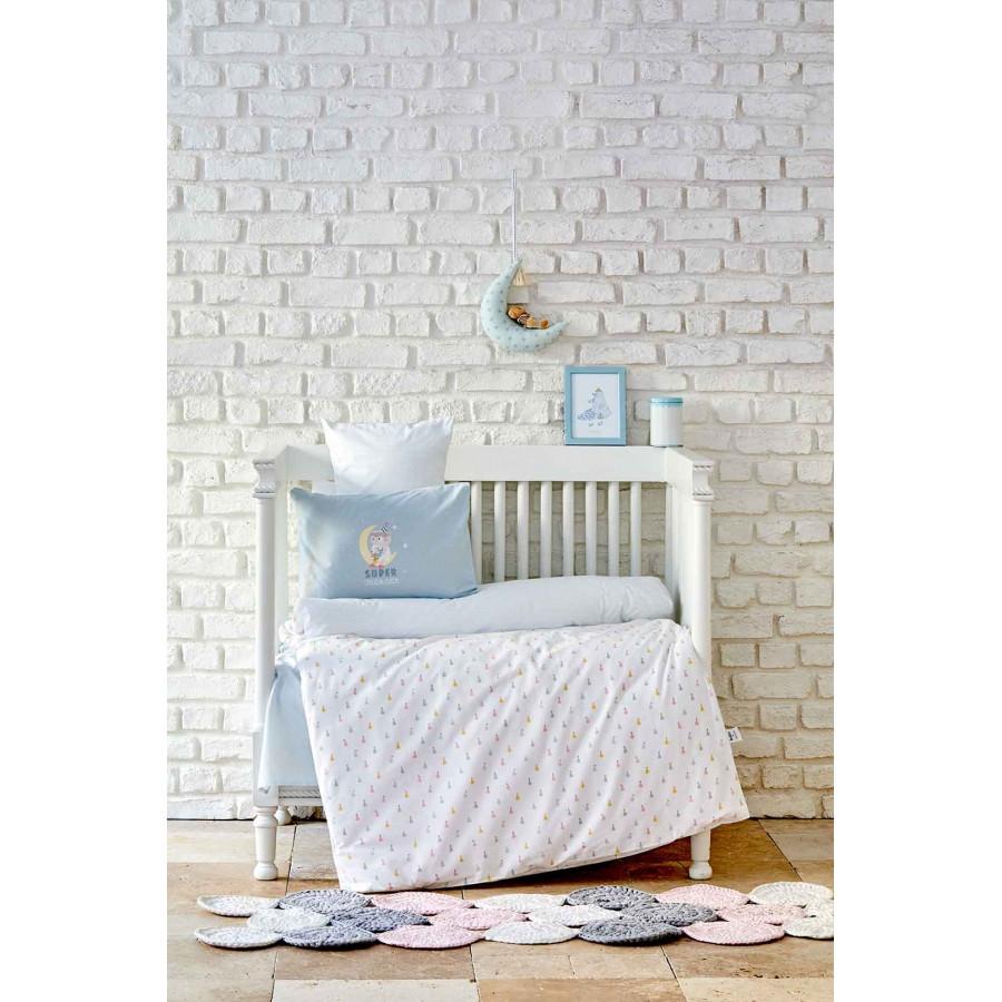 Дитячий набір в ліжечко для немовлят Karaca Home - Dreamer mint ментоловий (7 предметів)