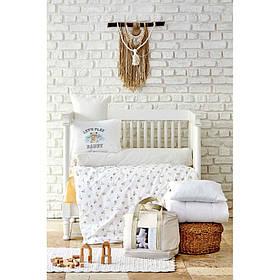 Дитячий набір в ліжечко для немовлят Karaca Home - Cute boy bej бежевий (7 предметів)