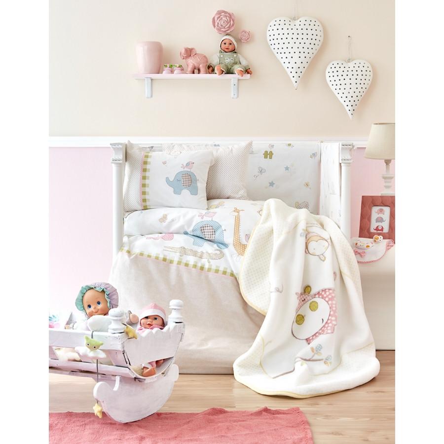 Дитячий плед в ліжечко Karaca Home - Playmate 2018-1 100*120 коробка