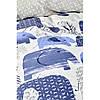 Постельное белье Karaca Home - Ruben mavi 2019-2 голубой ранфорс подростковое, фото 3