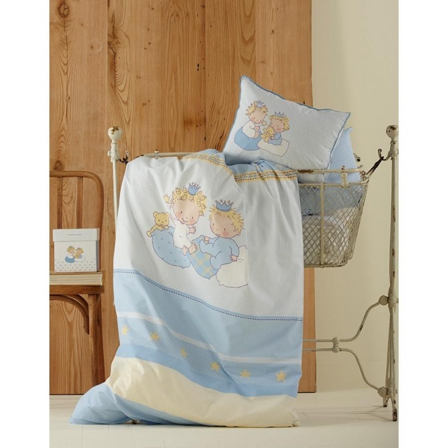 Постільна білизна для немовлят Karaca Home - Mini перкаль блакитне