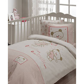 Дитячий набір в ліжечко для немовлят Karaca Home - Stella рожеве (7 предметів)