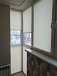 Рулонні штори Len. Тканинні ролети Льон Ванільний 0875, 90 висота 150, фото 2