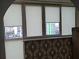 Рулонні штори Len. Тканинні ролети Льон Ванільний 0875, 90 висота 150, фото 3
