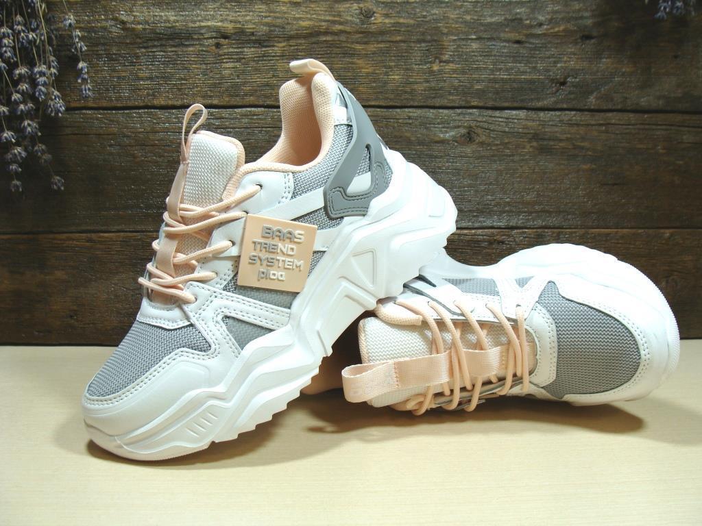Кросівки жіночі BaaS Trend System біло-сірі 36 р.