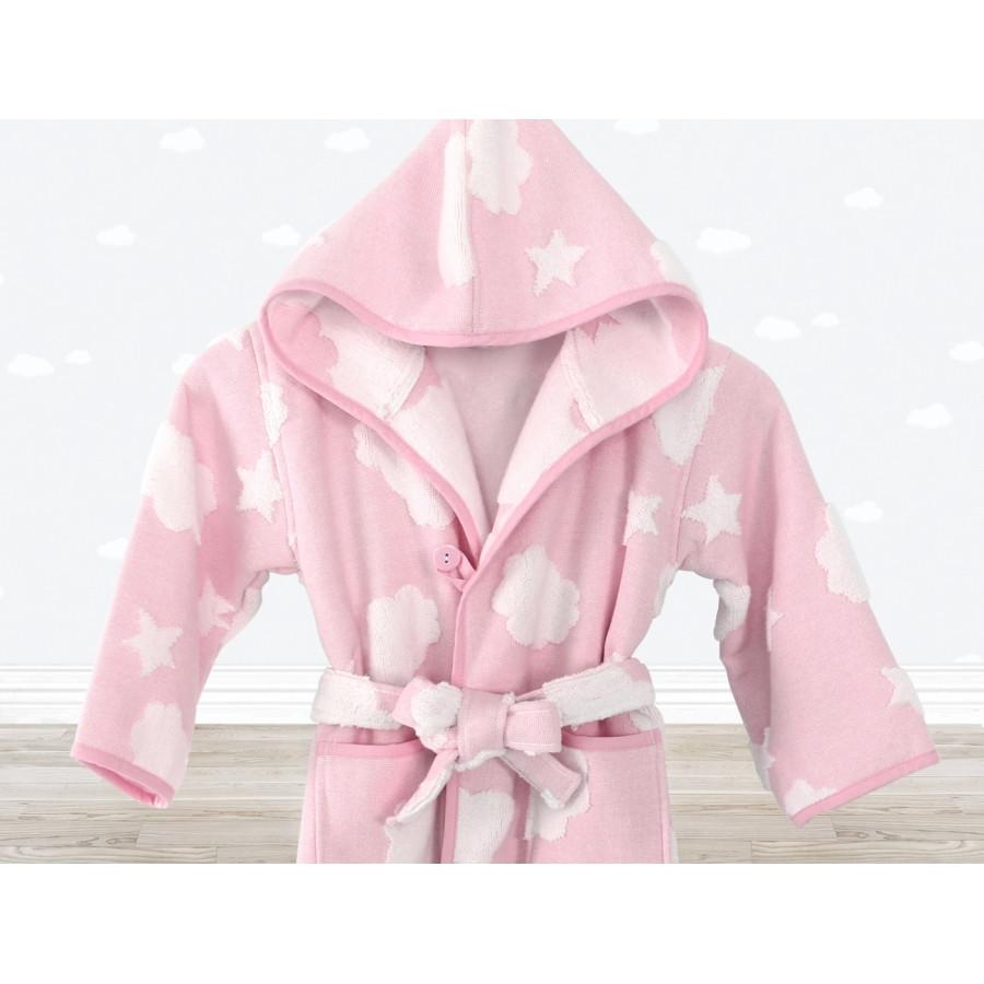 Халат дитячий Irya - Cloud рожевий 3-4 роки