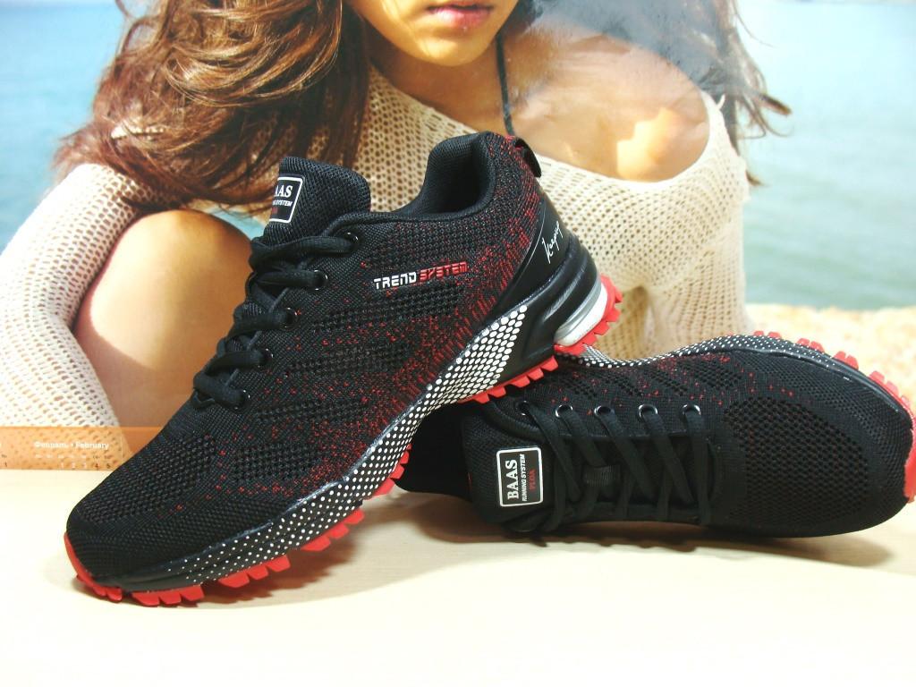 Чоловічі кросівки BaaS Marathon - 2 чорно-червоні 44 р.