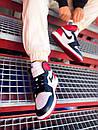 Мужские Кроссовки Air Jordan Retro 1 Black Red White, фото 5