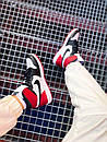 Мужские Кроссовки Air Jordan Retro 1 Black Red White, фото 3