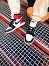 Чоловічі кросівки Air Jordan Retro 1 Black Red White, фото 2