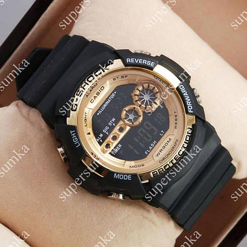 Яркие наручные спортивные часы Casio GA-200A Black/Gold 6060
