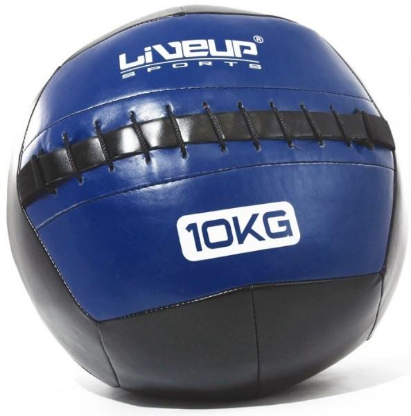 М'яч для кроссфита LiveUp Wall 35 см 10 кг Black-Blue (LS3073-10)