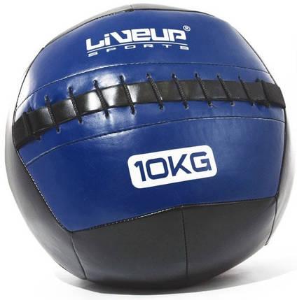 М'яч для кроссфита LiveUp Wall 35 см 10 кг Black-Blue (LS3073-10), фото 2