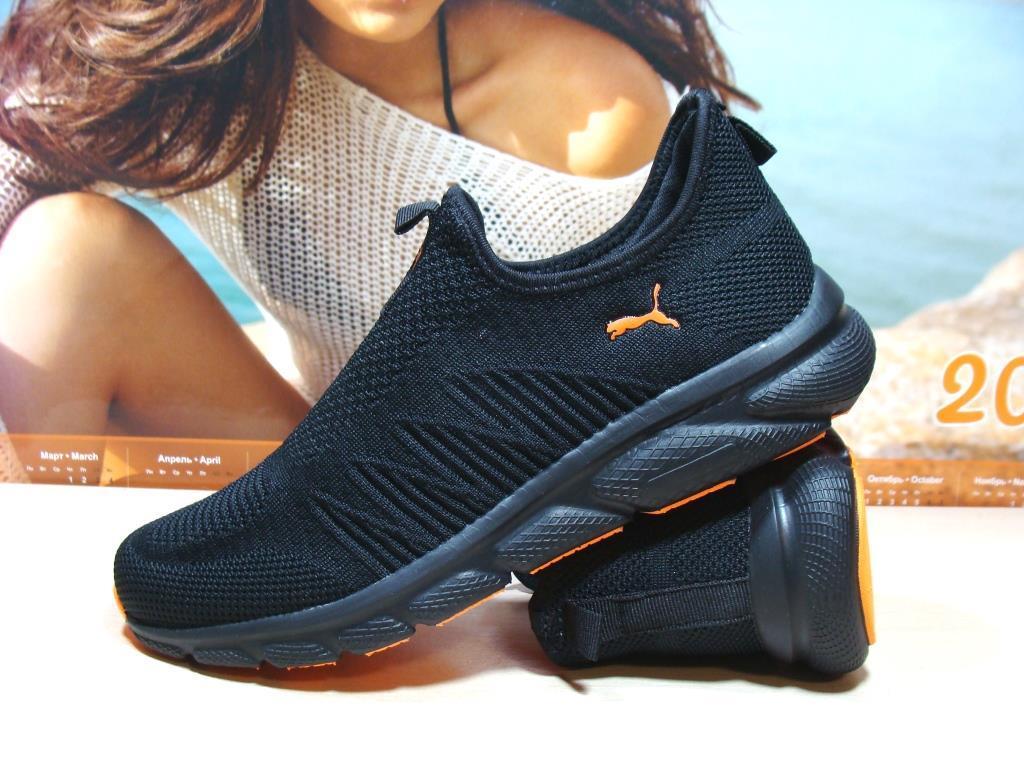 Кросівки чоловічі Puma R чорно-помаранчеві 42 р.