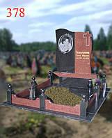 Пам'ятник з гранітної огорожею, фото 1