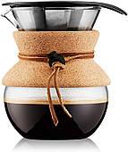 Кофеварка пуровер Bodum 0.5 л с многоразовым фильтром