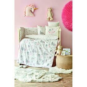 Дитячий набір в ліжечко для немовлят Karaca Home - Digna pembe рожевий (10 предметів)