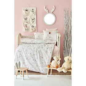 Дитячий набір в ліжечко для немовлят Karaca Home - Doe pembe рожевий (10 предметів)