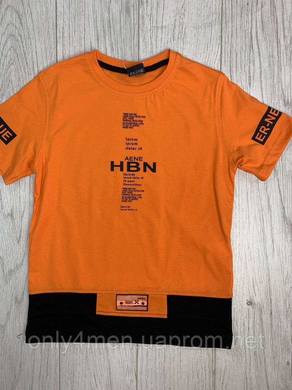 Яркие трендовые футболки для мальчиков 140-176см