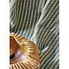 Набір постільна білизна з пледом Karaca Home - Vella yesil 2020-1 зелений євро, фото 2