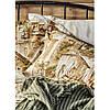 Набір постільна білизна з пледом Karaca Home - Vella yesil 2020-1 зелений євро, фото 3