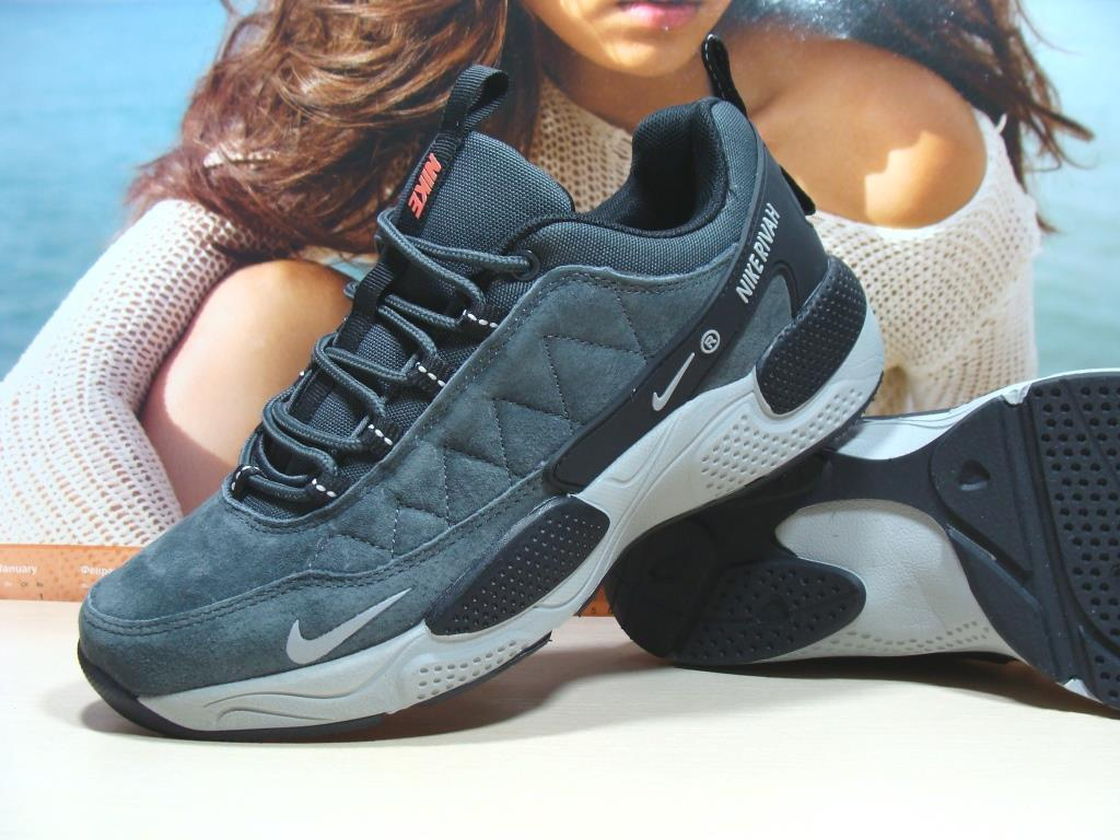 Чоловічі кросівки Nike Rivah сірі 46 р.