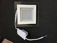Потолочный светодиодный  светильник 12W Стекло