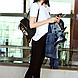 Женский черный рюкзак с принтом, велюровый рюкзак, рюкзак для подростка СС-2504-10, фото 3