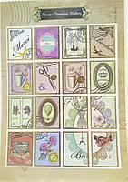 Наклейки для открытки Марки 5