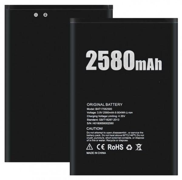 Аккумуляторная батарея Doogee BAT17582580 2580 mAh для X20 AAA класс
