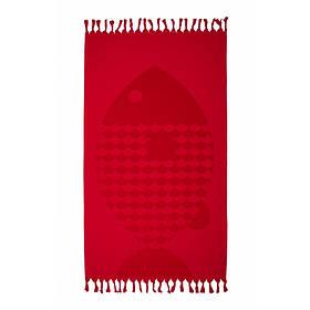 Рушник Barine - Fish Red червоний 90*160