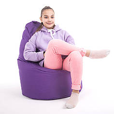 Кресло мешок пуф груша сиреневый    без внутреннего мешка  высота 90см ширина 65см