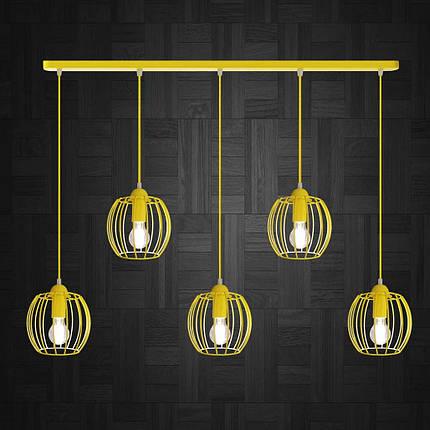 Подвесная люстра на 5-ламп BARREL-5 E27 желтый, фото 2