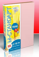 Бумага цветная  М-Стандарт  A4 mix TREND 5 цветов*50листов,  250листов  163162