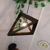 Подвесной светильник TRIANGLE E27 на 1-лампу, темное дерево, фото 2