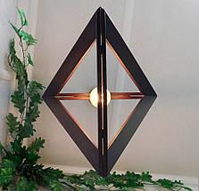 Подвесной светильник TRIANGLE E27 на 1-лампу, темное дерево, фото 3