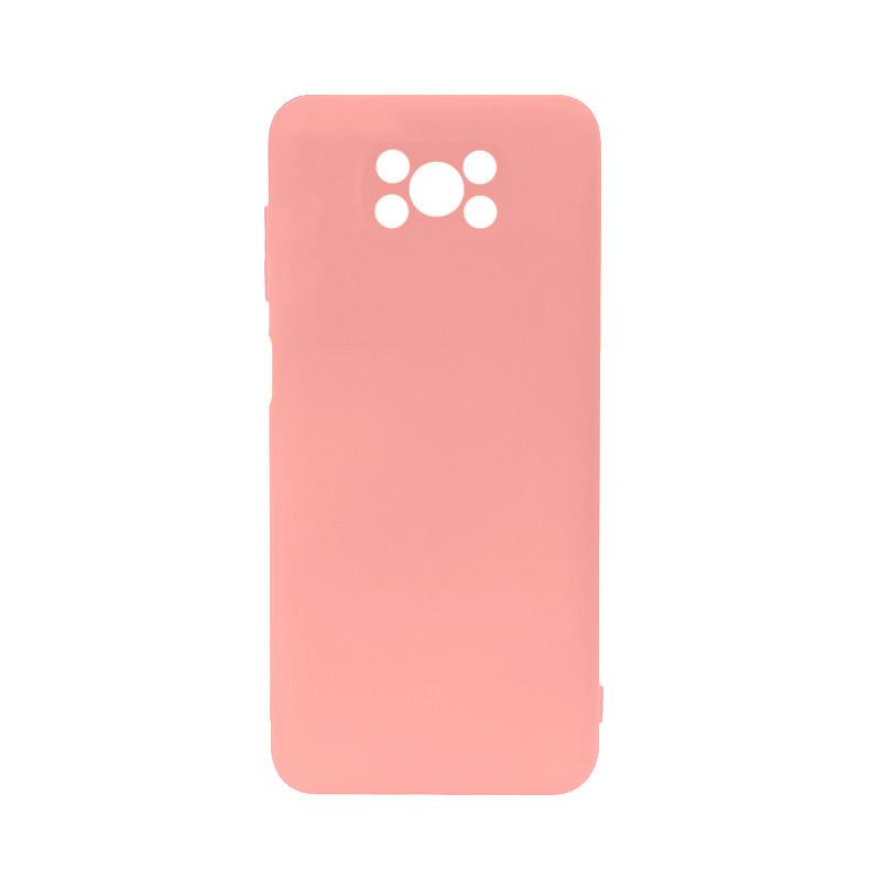 Силиконовый чехол Lesko для Xiaomi Poco X3 Soft Touch Light Pink защитный