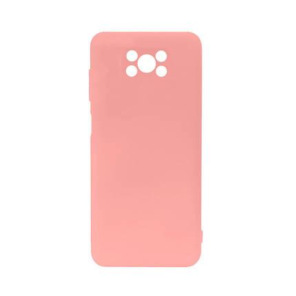 Силиконовый чехол Lesko для Xiaomi Poco X3 Soft Touch Light Pink защитный, фото 2